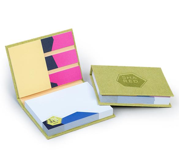 PM100-ART-PAPER Zestaw notesów samoprzylepnych w twardej okładce ART PAPER