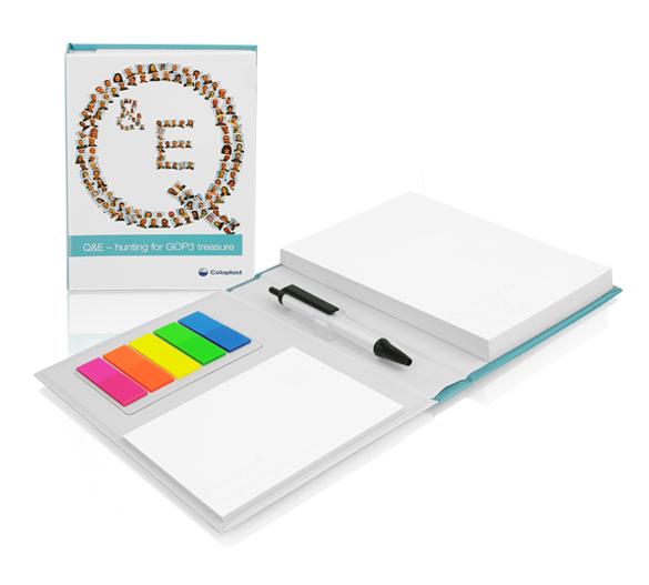 PM113 Zestaw notesów samoprzylepnych w twardej okładce