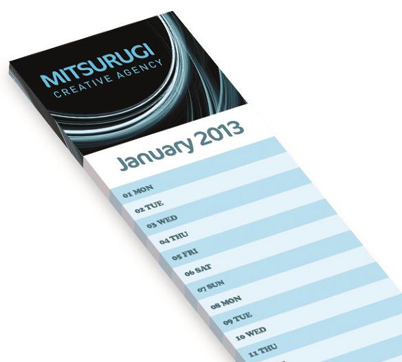 PM291 Kalendarz na miękkiej podstawie