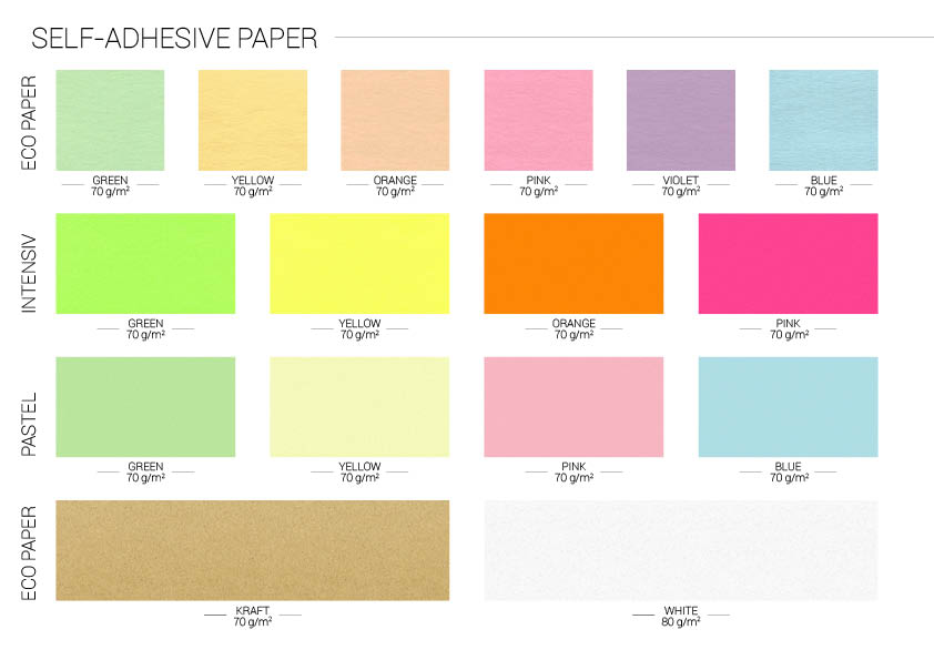 Wzornik papierów samoprzylepnych