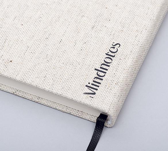 MN33 Mindnotes w twardej okładce materiałowej Lino color, Lino nature
