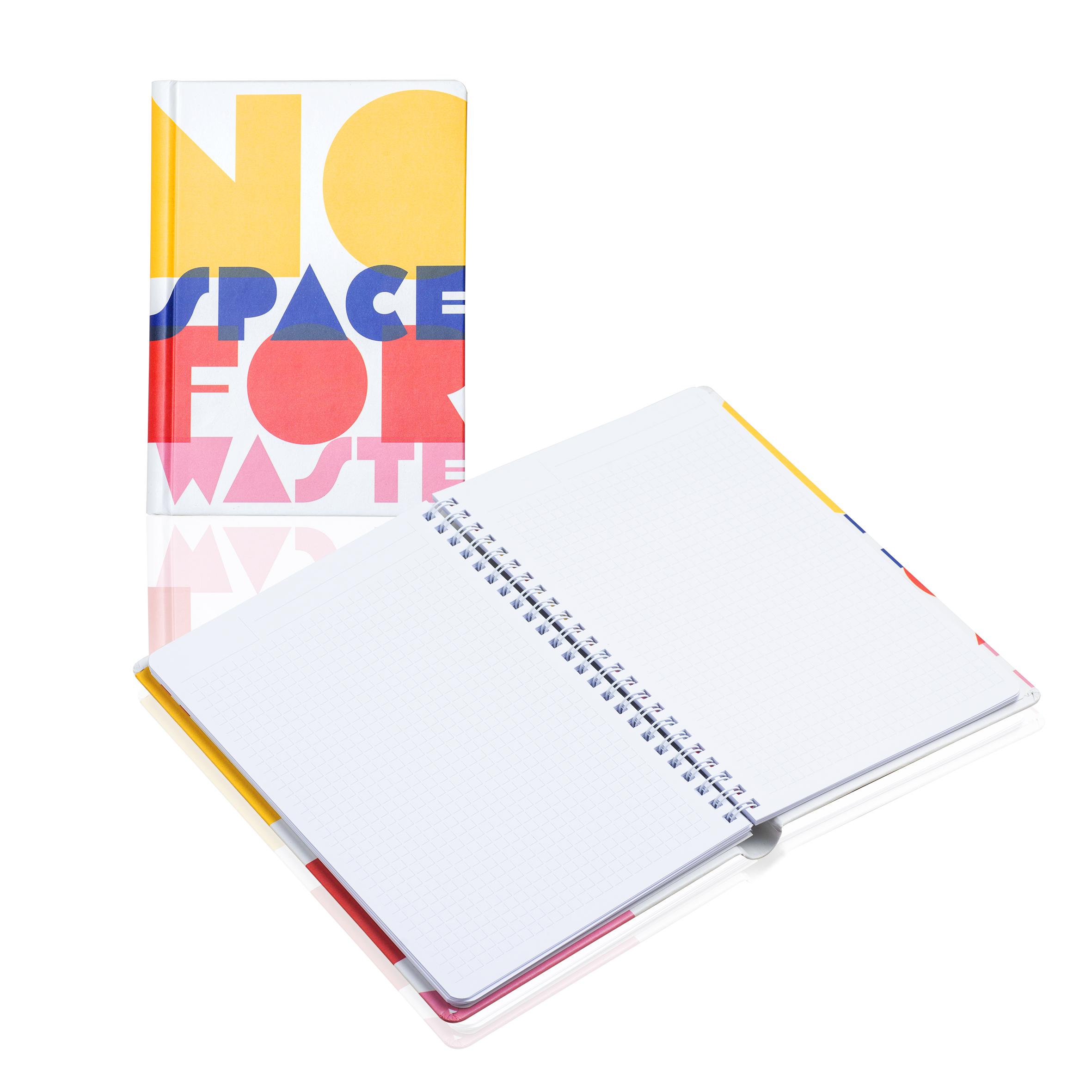 PM301 Notes w twardej okładce papierowej na spirali